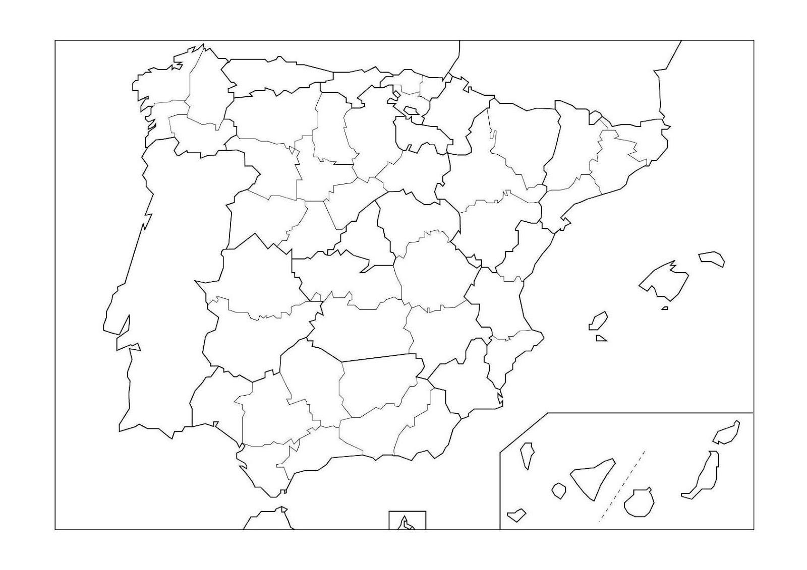 Mapa Mudo Provincias España.Mapa Mudo Provincias De Espana