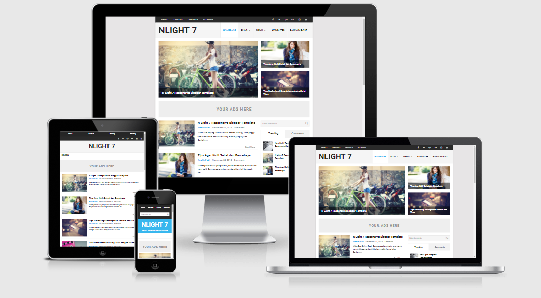 N Light Responsive and SEO Friendly Blogger Template | free and SEO ...