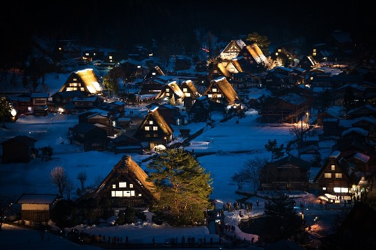 Shirakawa-go Winter Light Up