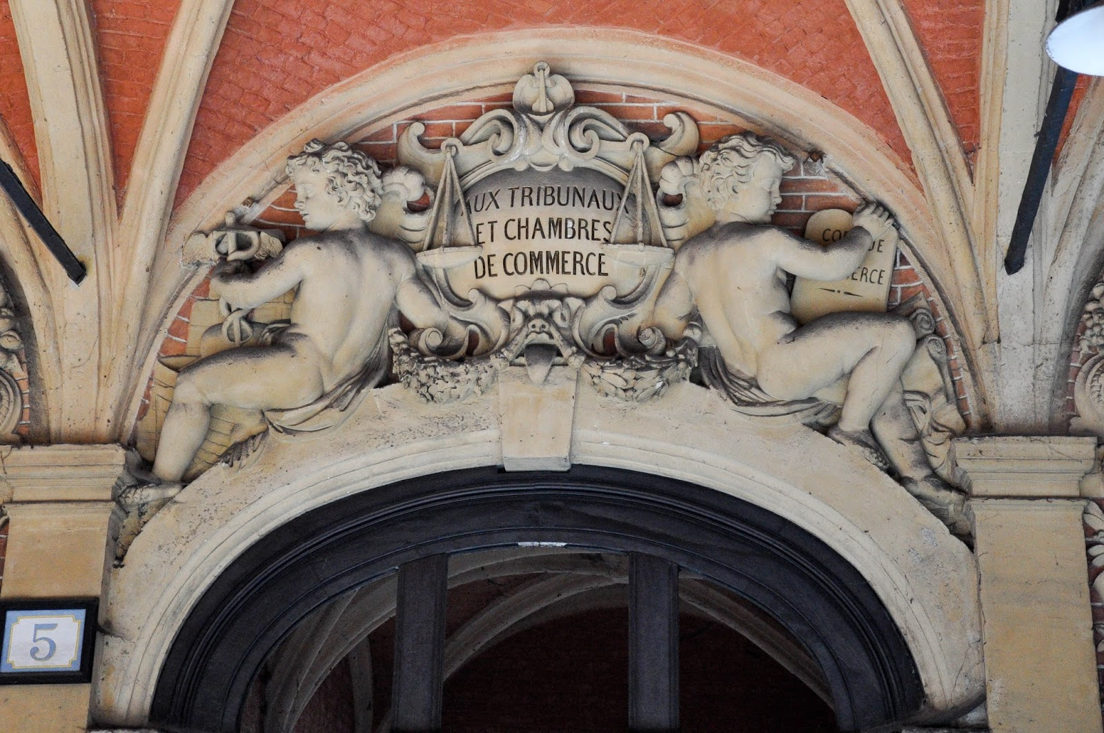 Detail, Old Stock Exchange, Lille, France