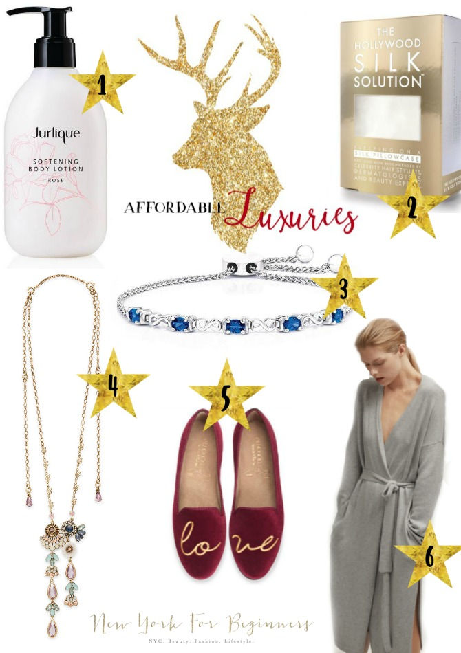 holiday gift guide with affordable luxuries under 100 dollars