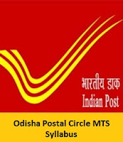 Odisha Postal Circle MTS Syllabus