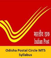 Odisha Postal Circle MTS Syllabus