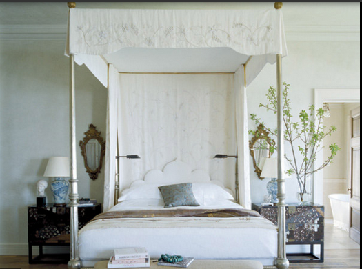 Dreamy and Romantic Full Draped Canopy Beds 4