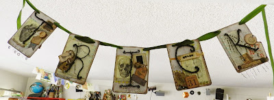 Halloween banner Trick side collage sheets