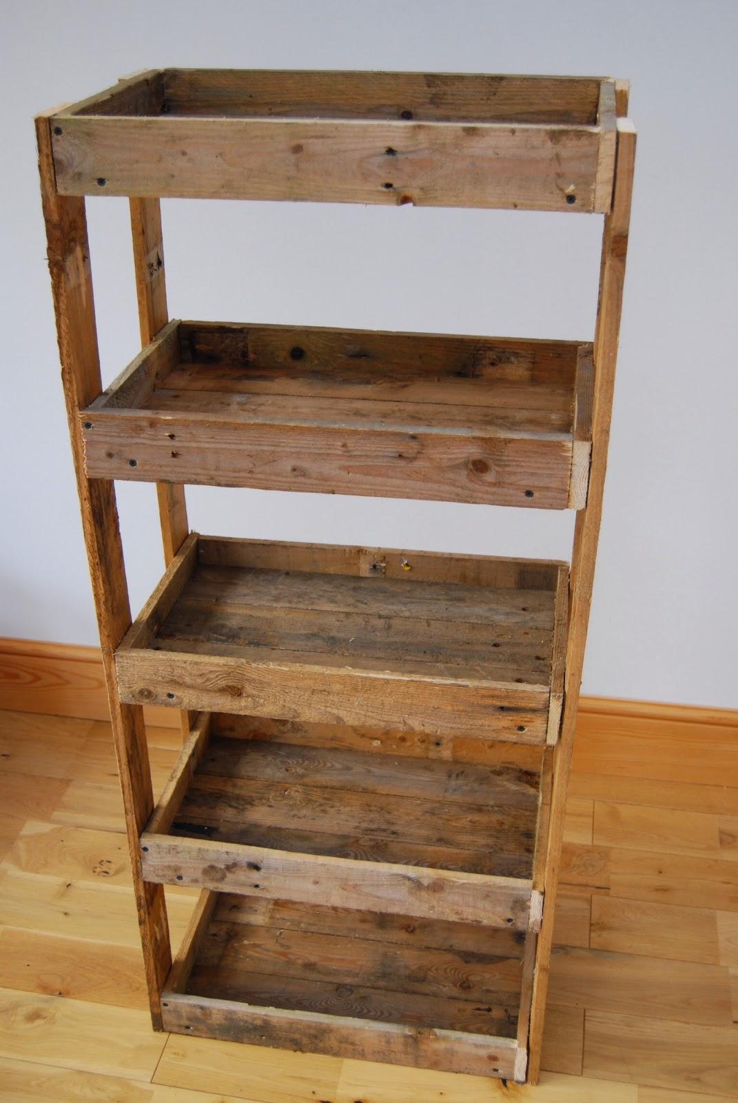 Pallet Wood Shelving Unit | Brick Dust & Glitter