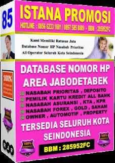Jual Database Nasabah Asuransi