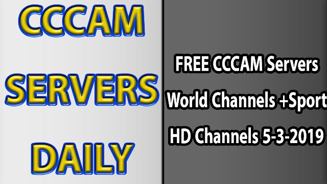 FREE CCCAM Servers World Channels +Sport HD Channels 5-3-2019