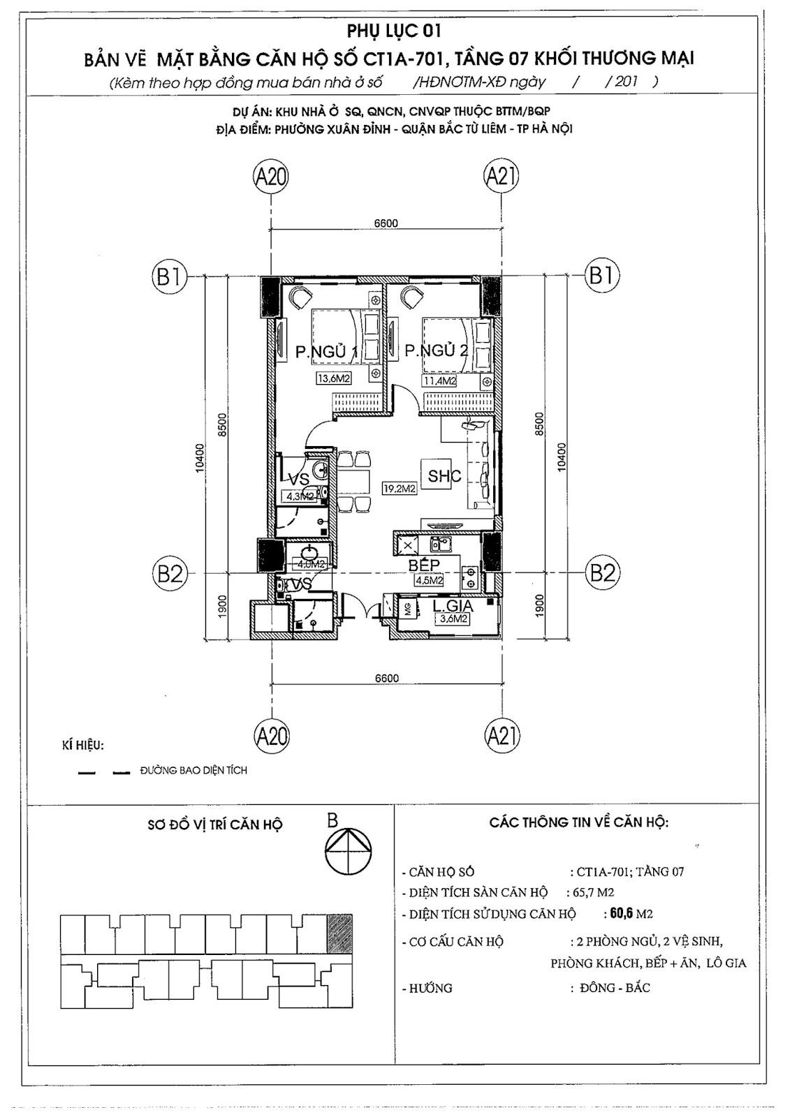 [ Mẫu thiết kế bản CAD căn hộ 01 | Chung cư 789 Xuân Đỉnh ]