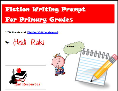 Free fiction writing prompt to teach students the writing process - from Raki's Rad Resources