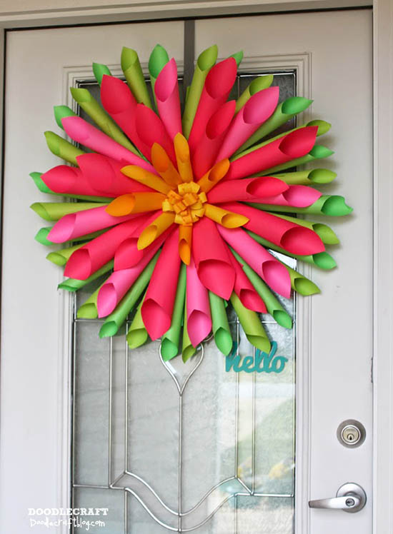 Doodlecraft - Spring Dahlia Wreath