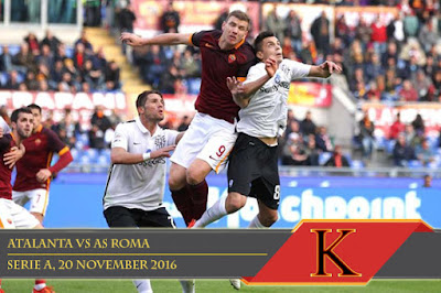 Prediksi Skor Atalanta vs AS Roma 20 November 2016