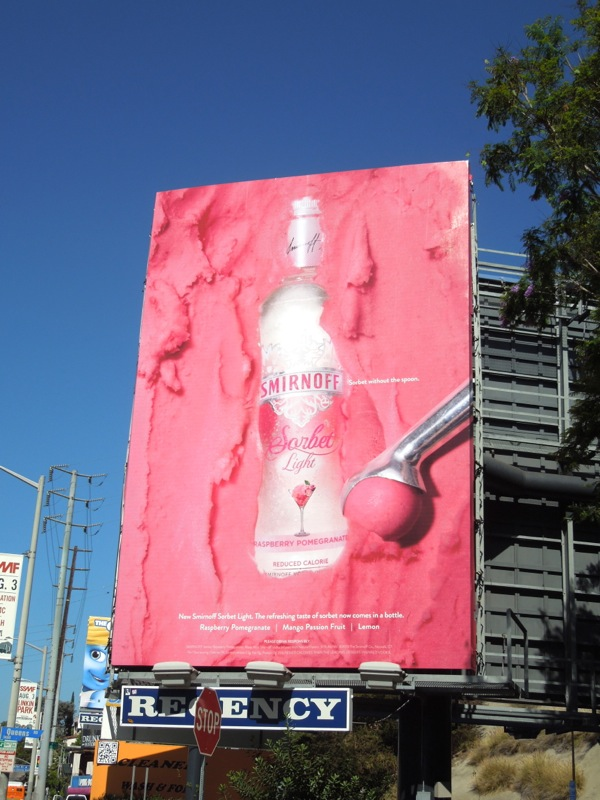 Smirnoff Sorbet Light Raspberry Pomegranate Vodka billboard