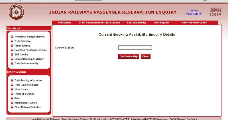 indian rail reservation online booking