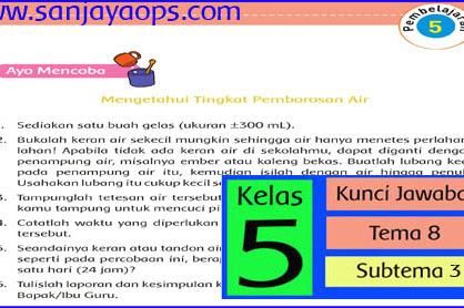 Kunci Jawaban Tematik Kelas 5 Tema 8 Halaman 125, 126, 128
