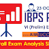 IBPS PO Pre 23rd October 2016 Exam Analysis Expected Cut-Off - SLOT 4
