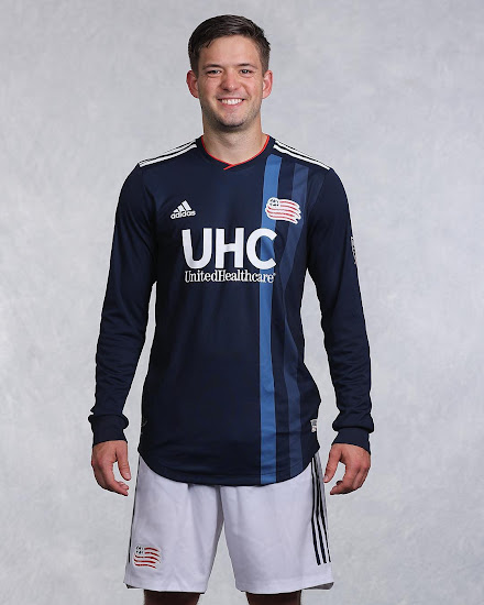 new arrivals 1aaf8 76806 New England Revolution 2018-2019 Home Kit Released - Footy ...