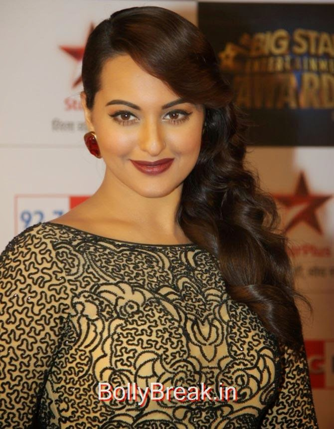 Sonakshi Sinha, Bollywood Actresses Lipstick Styles - Red, Pink, Nude