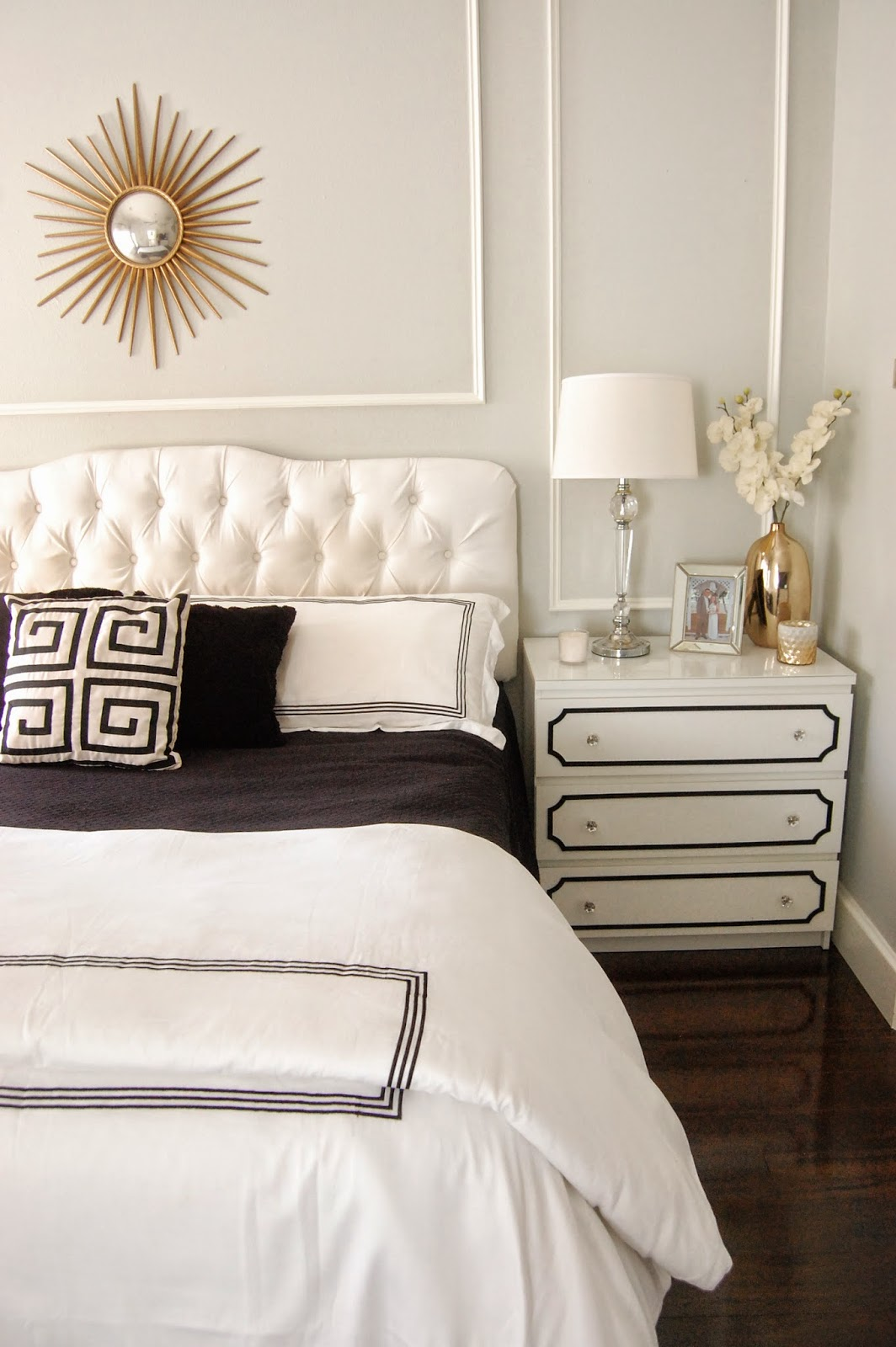 Master Bedroom Update: Classic Style Home: Master Bedroom Update: White Duvet