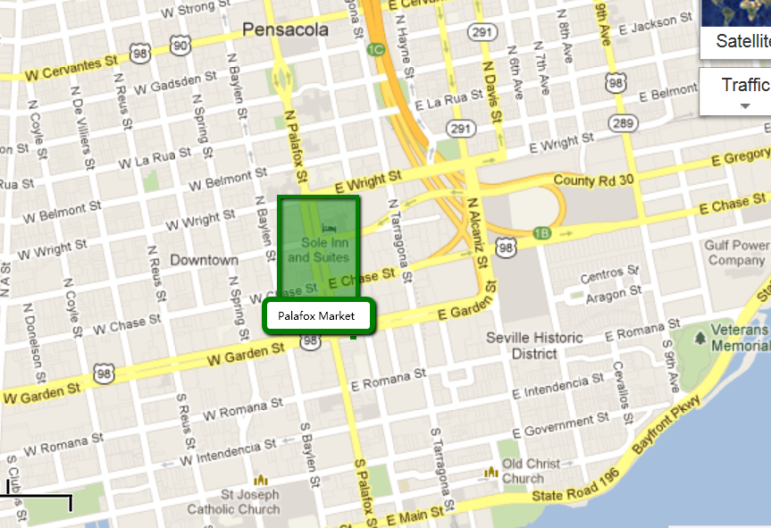 to Live in Pensacola, Florida: The Palafox Market in ... Street Map Downtown Pensacola on escambia county street map, brownsville street map, freeport street map, nas pensacola street map, panama city beach street map, downtown pensacola churches, daytona beach street map, hotel pensacola beach fl map, navarre street map, holley by the sea street map, crestview street map, fort walton beach street map,