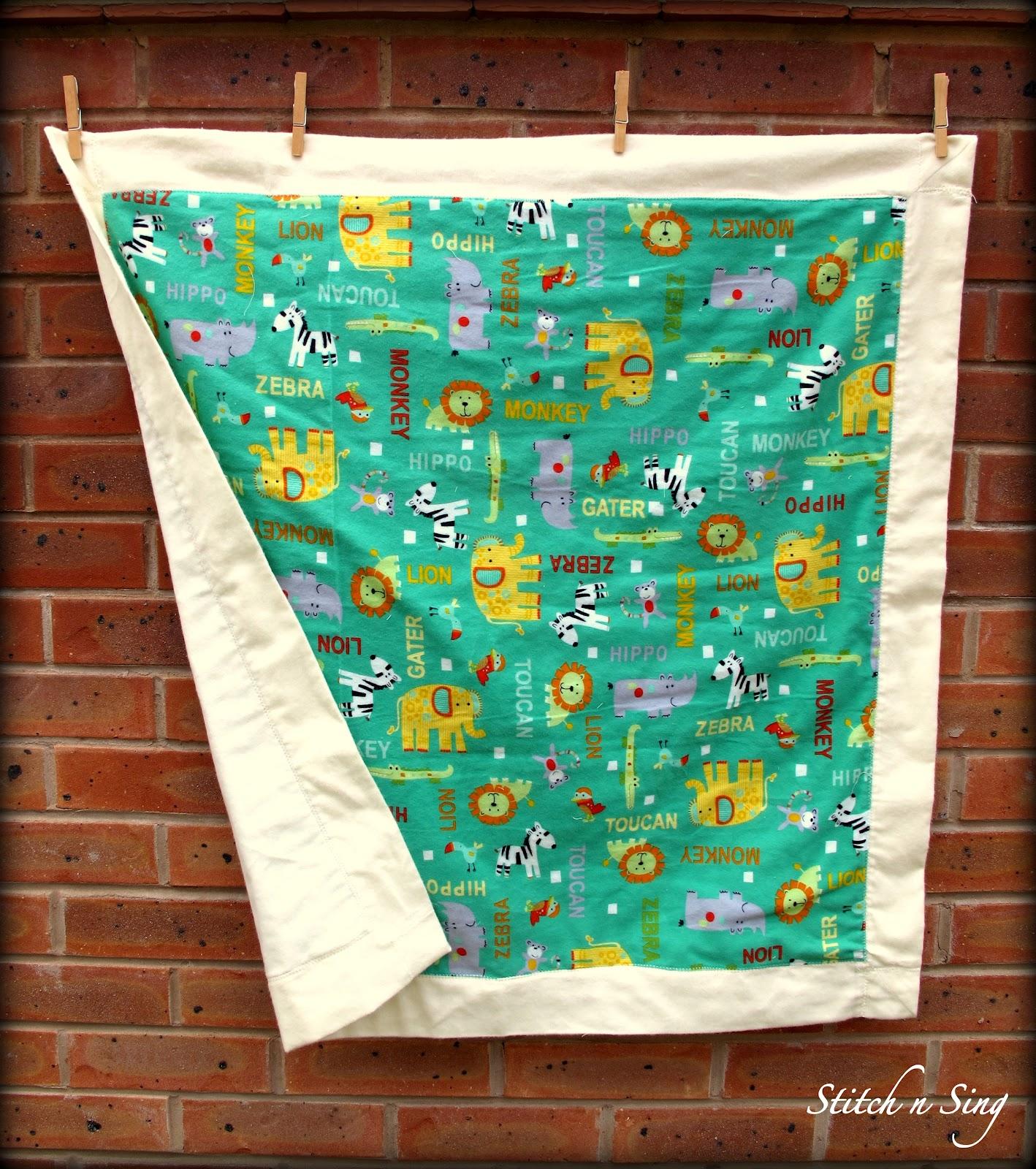 Stitch N Sing: Self-binding Receiving Blanket