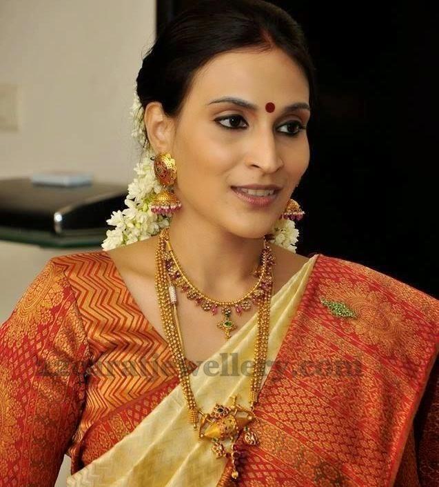 Aishwarya Danush Temple Jewelry Jewellery Designs
