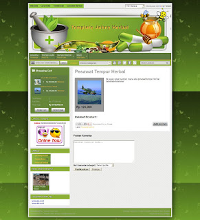 product page template toko herbal mantab