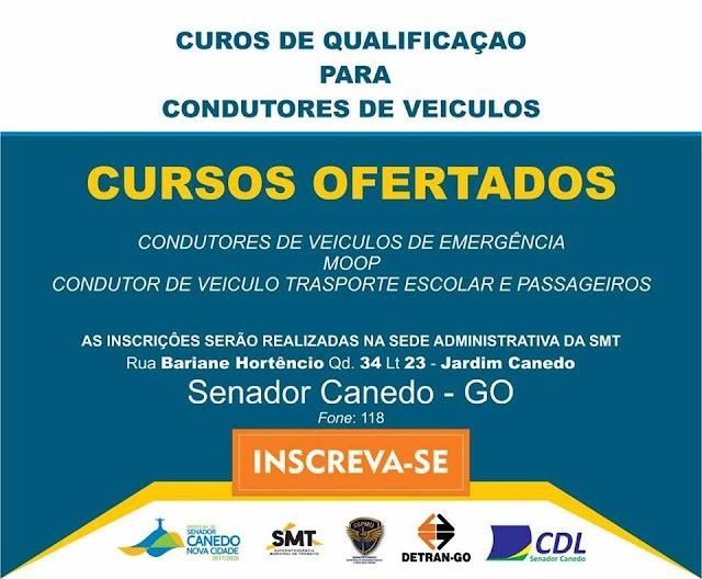 Senador Canedo: SMT realiza cursos direcionados para motoristas