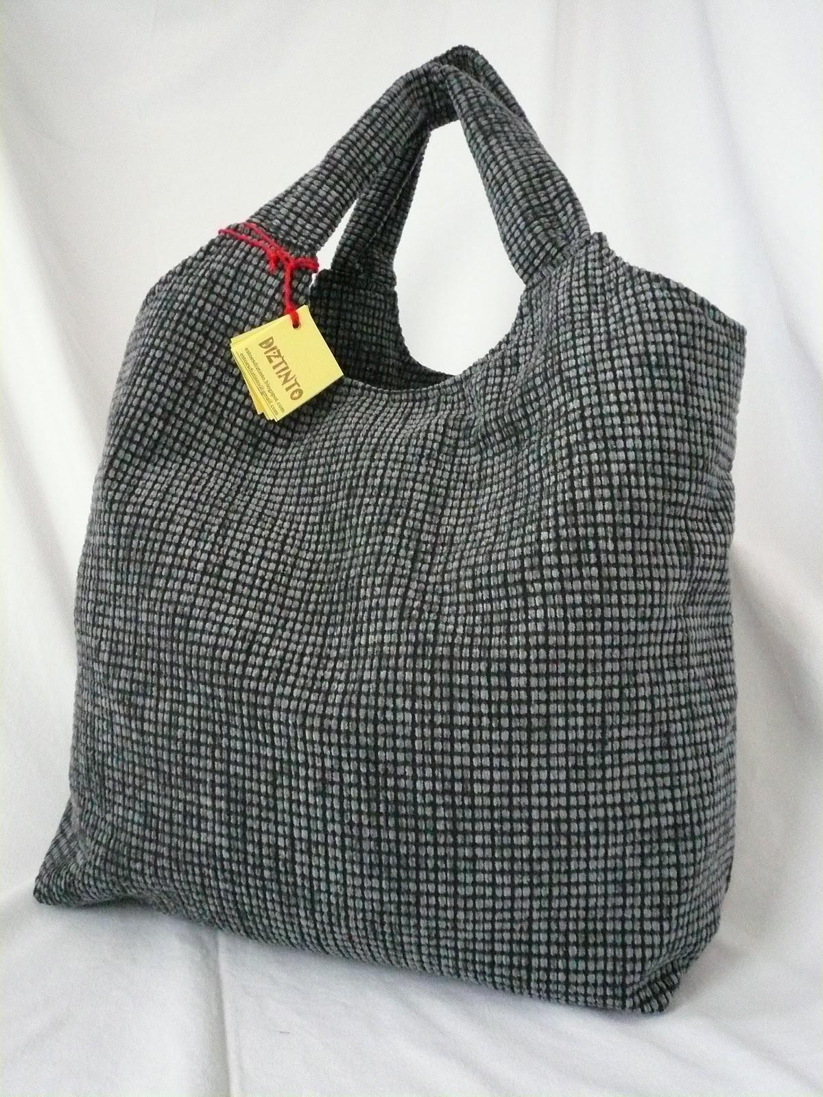 a53ffd895 esto es DIZTINTO : Bolso de tela de tapicería