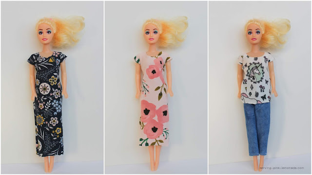 How to Sew a Ridiculously Easy Barbie Dress in Under a Minute