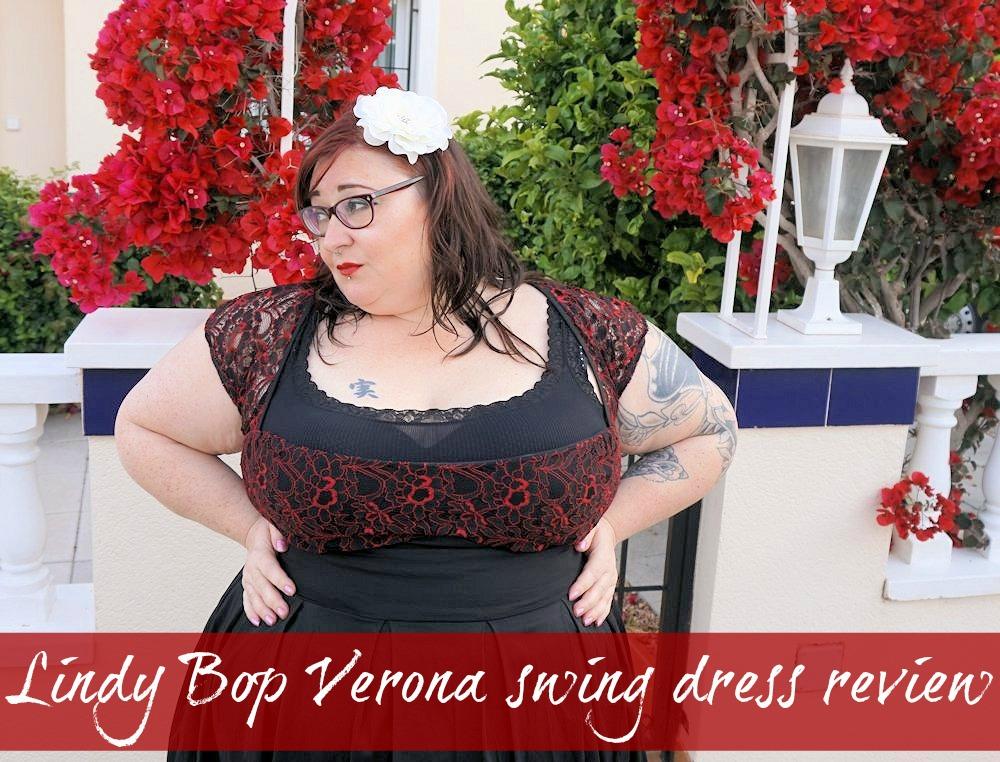 Lindy Bop Verona plus size swing dress 50s style vintage plus size