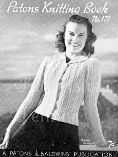 295bcda4c07f55 Free 1940 s Knitting pattern- Jenny Cardigan