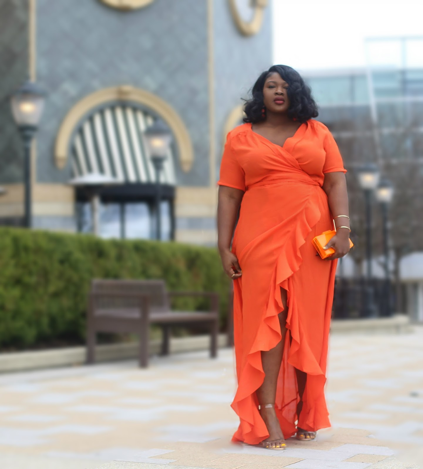 Asos Tall orange Maxi  Plus size