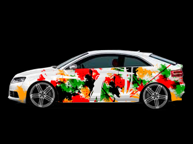 Car decals for audi s3 usa with abstract style