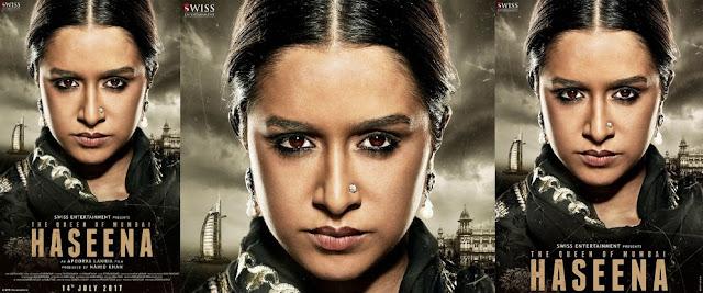 Haseena First look Poster Shraddha Kapoor as Haseena Parker