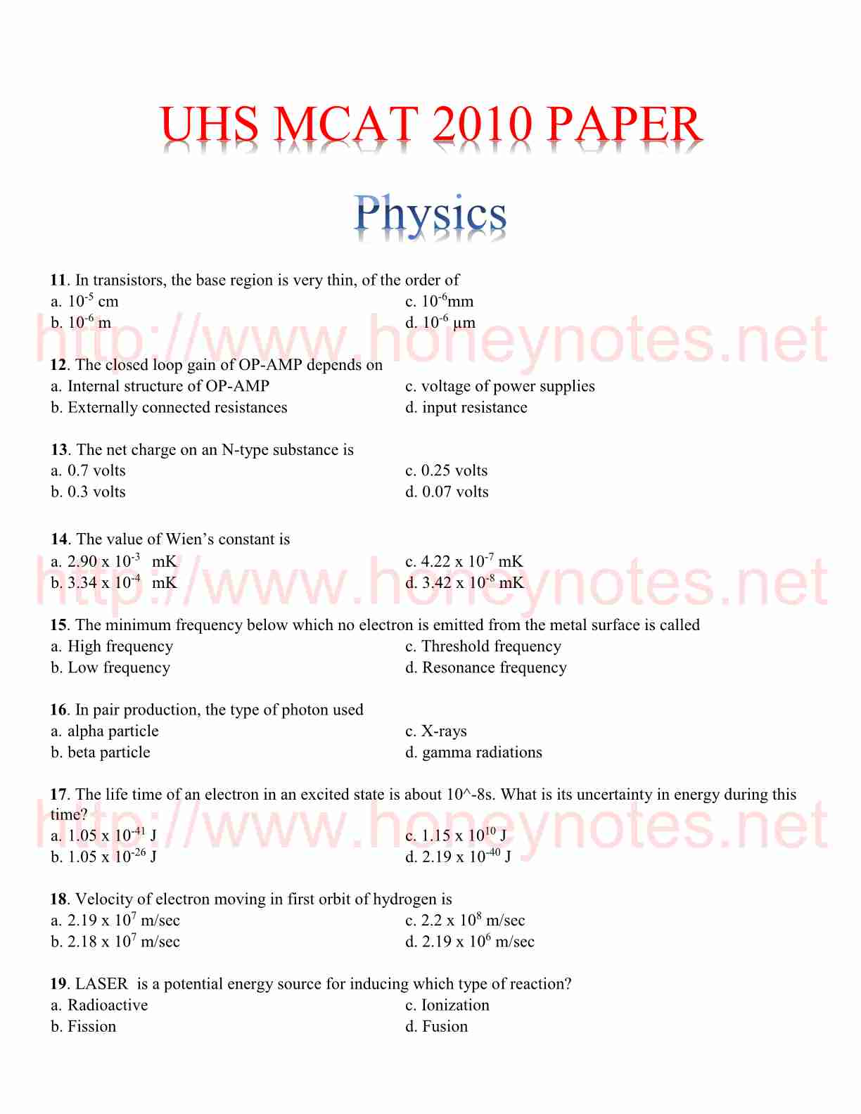 uhs mcat physics papers 2010 uhs mcat physics papers 2011 uhs mcat physics papers with answers uhs mcat physics papers 2012 uhs mcat physics papers 2013 with answers uhs mcat physics papers pdf uhs mcat physics papers download uhs mcat physics papers 2009 MCAT Past Paper 2010 - Etest And Admission GuideLine Sample Paper Model Test Paper Entry Test 2010 Key / Correct Answers to Questions (Entrance Test; MCAT) 2010 MCAT Past Papers Original Download 2012 2013 2014 Download MCAT Past Papers in PDF Archives UHS MCAT Past Papers 2015, 2014 With Answers Download mcat physics papers 2014 uhs mcat physics papers with answers mcat physics papers with answers 2014 mcat physics papers 2010 mcat physics papers download mcat english physics papers mcat paper 2013 by uhs mcat 2012 paper with answers uhs mcat physics papers 2009 mcat test papers free download mcat physics papers 2014 uhs mcat physics papers 2013 with answers mcat physics papers 2012 with answers mcat physics papers 2010 mcat english physics papers m.cat physics papers University of health physics Science MCAT Past papers with answer key free UHS MCAT Entry Test Answer physics Key 2016 Check Online Free Download UHS MCAT Medical Admission physics Entry Test 2015 Model Paper Uhs Answer physics Keys Azad Kashmir 4 Oct 2015 Online