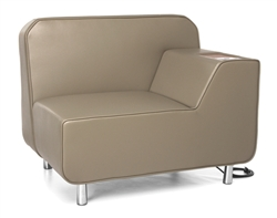Lounge Chair with USB Ports