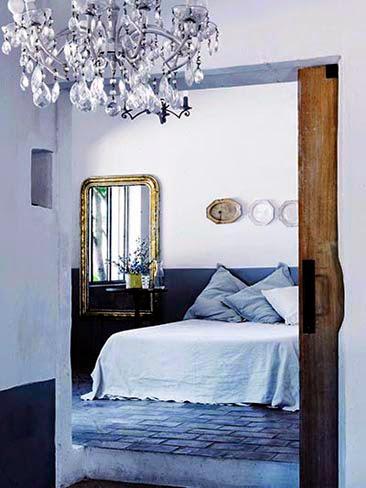 blue rooms classic bedroom crystal chandelier