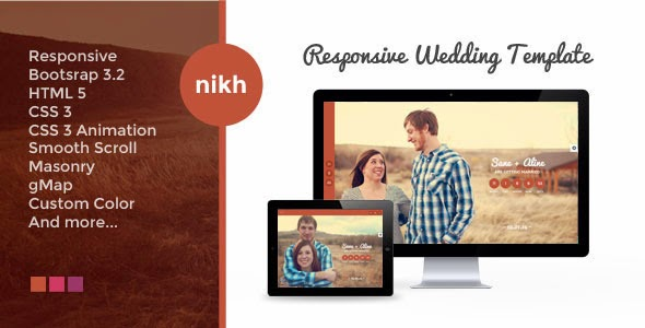 Premium HTML Wedding Template
