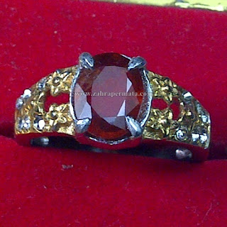 Cincin Batu Red Garnet - ZP 763
