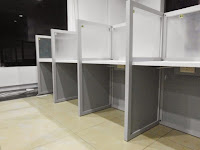 Custom Furniture Semarang - meja sekat cubicle table knockdown