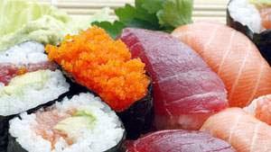 sushi, ikan mentah, masakan jepang