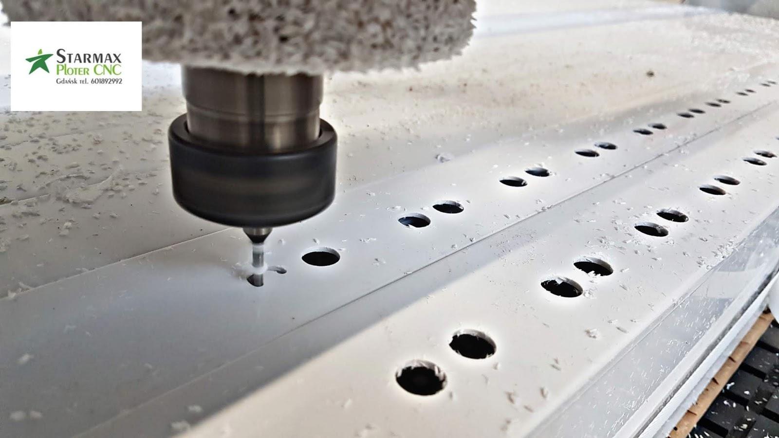 Wycinanie PCV na Ploterze frezarka CNC