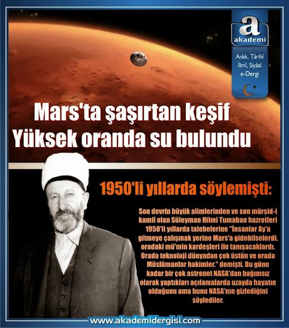 süleyman hilmi tunahan, mars, merih, uzayda hayat var mı, mars'ta yaşam var mı, astronomi, uzay bilimi, teknoloji, evren, kainat, akademi dergisi
