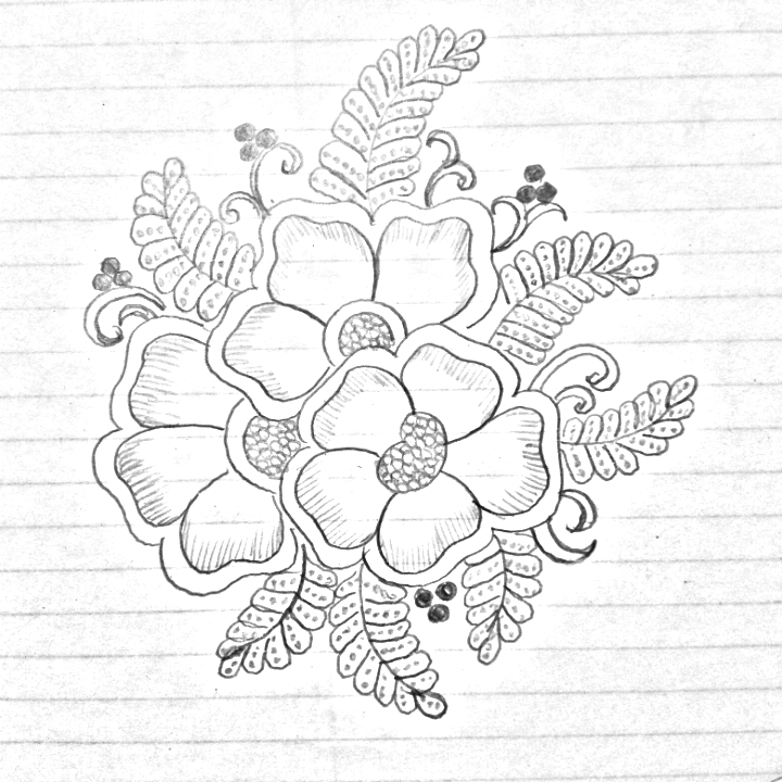 How To Draw Flower Designs On Paper Sansurabionetassociatscom