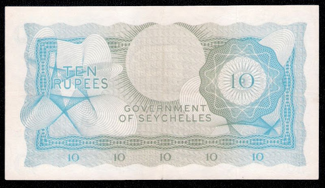Seychelles money pictures 10 Rupees note