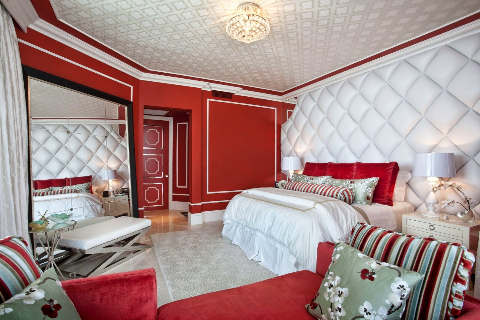 bedroom color red walls