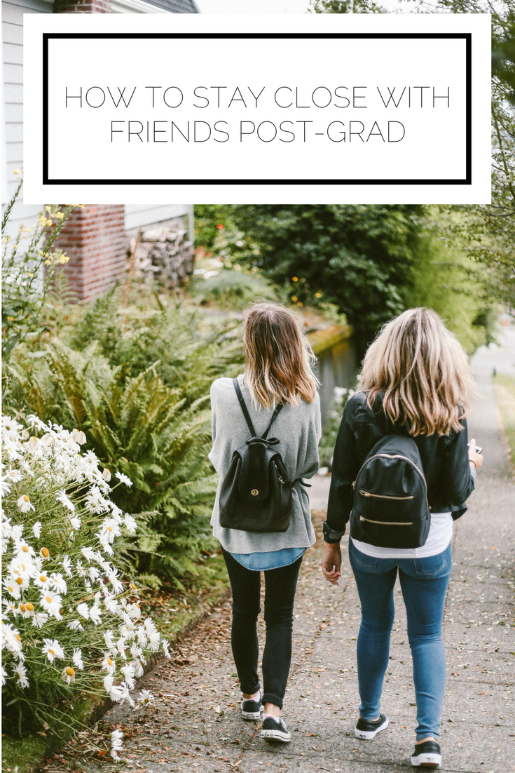 Click to read now or pin to save for later! Staying in touch with friends after graduation is a challenge, but here are some ways you can prioritize your friendships