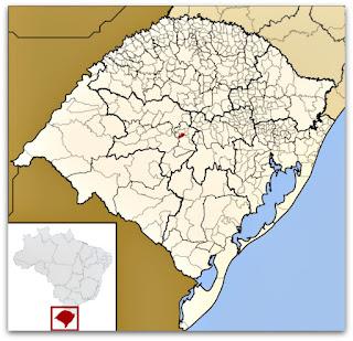 Cidade de São João do Polêsine no Rio Grande do Sul