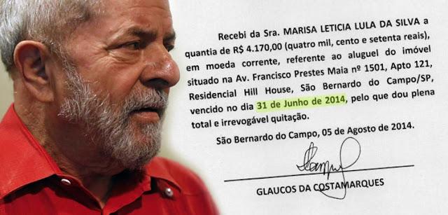 Glaucos da Costamarques reafirma não ter recebido aluguel de Lula pelo apartamento.